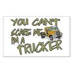 No Fear Trucker Rectangle Sticker