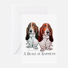 Basset Hound Brace Greeting Cards (Pk of 10)