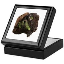 Cute Bison Keepsake Box