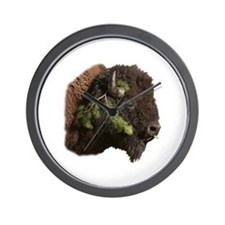 Funny Bison Wall Clock
