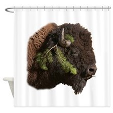 Cute Bison Shower Curtain