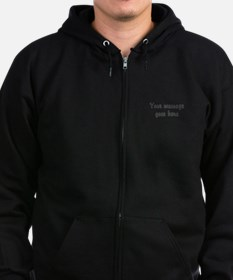 Custom Two Line Design Zip Hoody