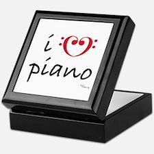 i love piano Keepsake Box