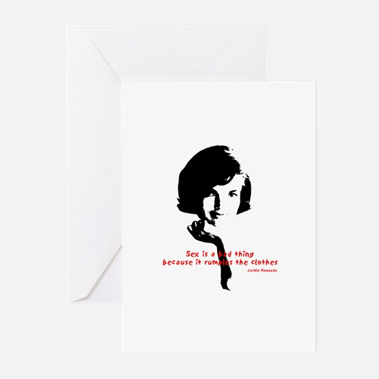 Jackie Kennedy's quote Greeting Cards (Package of