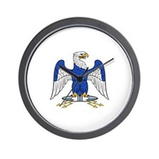 French Imperial Eagle Wall Clock