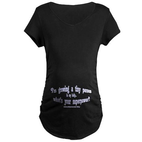 Pregnant Superpower Maternity Dark T-Shirt