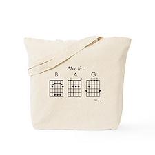 music bag (guitar) Tote Bag