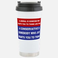 A Conservative Stainless Steel Travel Mug
