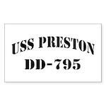 USS PRESTON Sticker (Rectangle)