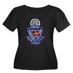 USS PRES Women's Plus Size Scoop Neck Dark T-Shirt