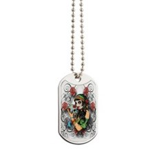 Candy Rose Skull Dog Tags