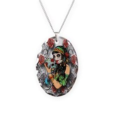Candy Rose Skull Necklace