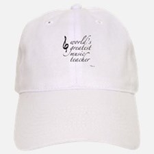 world's greatest music teache Baseball Baseball Cap