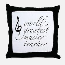 world's greatest music teache Throw Pillow