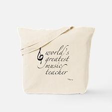 world's greatest music teache Tote Bag