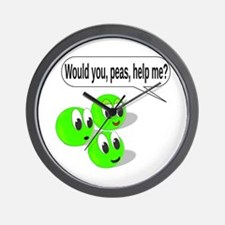Would You, Peas, Help Me? Wall Clock