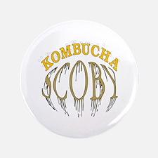 """Kombucha Scoby 3.5"""" Button"""