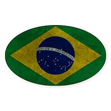 Grunge Braziilan Flag Decal