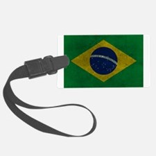 Grunge Braziilan Flag Luggage Tag