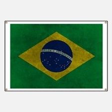 Grunge Braziilan Flag Banner