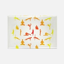 Yoga Positions In Gradient Colors Magnets
