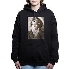 Cute Beethoven Women's Hooded Sweatshirt