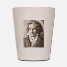 Cute Beethoven Shot Glass