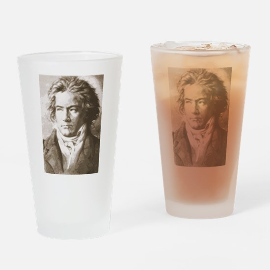 Cute Beethoven Drinking Glass