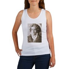 Beethoven In Sepia Tank Top