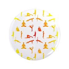 """Cute Yoga 3.5"""" Button (100 pack)"""