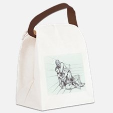 Fighting Pencil Canvas Lunch Bag
