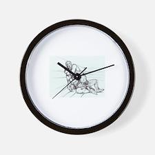 Fighting Pencil Wall Clock