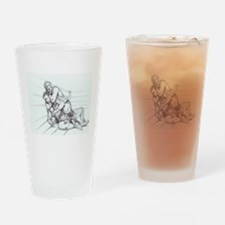 Fighting Pencil Drinking Glass