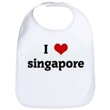 I Love singapore Bib