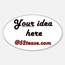 Personalized Customized Oval Decal