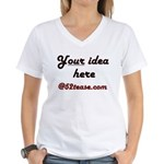 Personalized Customized Women's V-Neck T-Shirt