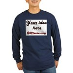 Personalized Customized Long Sleeve Dark T-Shirt