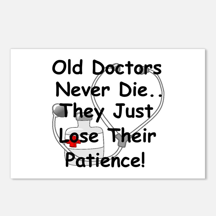 Cute Doctor retirement Postcards (Package of 8)
