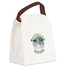 Reptilian Agenda Canvas Lunch Bag