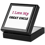 I LOVE MY GREAT-UNCLE Keepsake Box