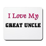 I LOVE MY GREAT-UNCLE Mousepad
