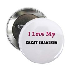"""I LOVE MY GREAT-GRANDSON 2.25"""" Button (10 pack)"""