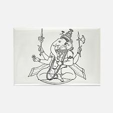 Ganesha - Hindu Diety Rectangle Magnet (10 pack)