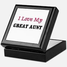I LOVE MY GREAT-AUNT Keepsake Box