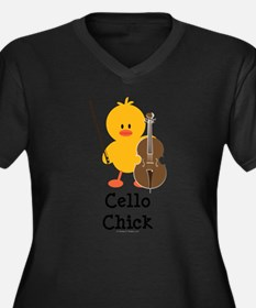 Cool Chicks dig bass players Women's Plus Size V-Neck Dark T-Shirt