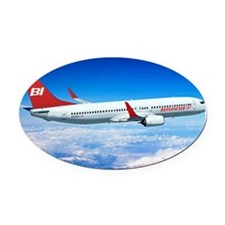 Braniff Red Breed Oval Car Magnet