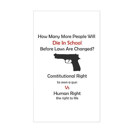 Stop School Shootings Rectangle Sticker