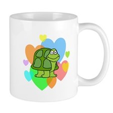 Turtle Hearts Small Mug