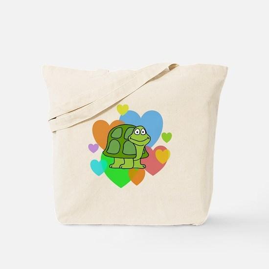 Turtle Hearts Tote Bag