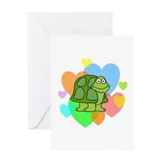 Turtle Hearts Greeting Card